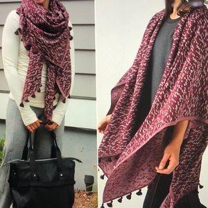NWOT Lululemon Sun To Moon scarf wrap shawl tassel